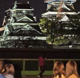 熊本城、終夜ライトアップ 地震4年の14、16日 復興、感染防止の願い込め---熊本日日新聞
