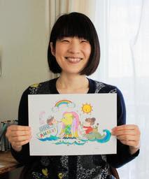 コロナ退散!?疫病よけの妖怪「アマビエ」の塗り絵台紙 女性イラストレーターが公開--神戸新聞