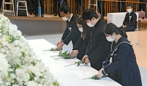 「負けない姿見せたい」 遺族代表の内村さん(西原村)父に誓う  熊本地震追悼式--熊本日日新聞