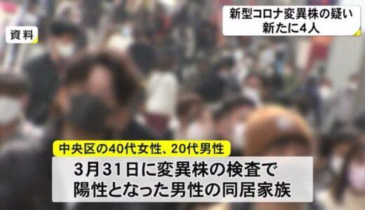 新型コロナ変異株に感染した疑い4人確認(熊本)