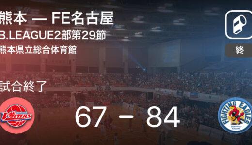【B2第29節】FE名古屋が熊本を破る