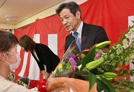 菊池市長選、江頭氏が無投票で3選