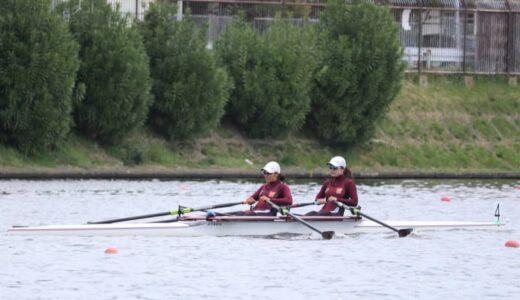 漕艇部2021シーズン開幕、新1年生も大会デビュー