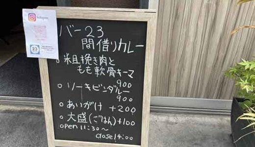 【New Open・上乃裏】週2日しか開かない幻のスパイスカレー