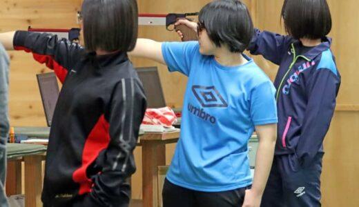 女子ビームピストル60発 長崎東・弥永 高校新V 県春季ライフル選手権