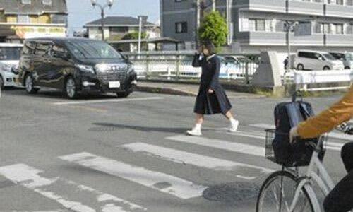 横断歩道の安全守れ 熊本県警、15日まで取り締まり強化