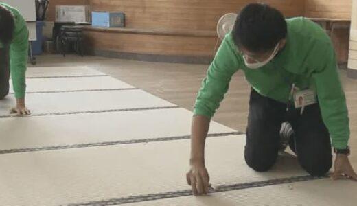熊本県産のイグサ使用の畳を小学校に寄贈